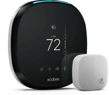 ecobee4 smart thermostat in Hubsai's SmartHome plan