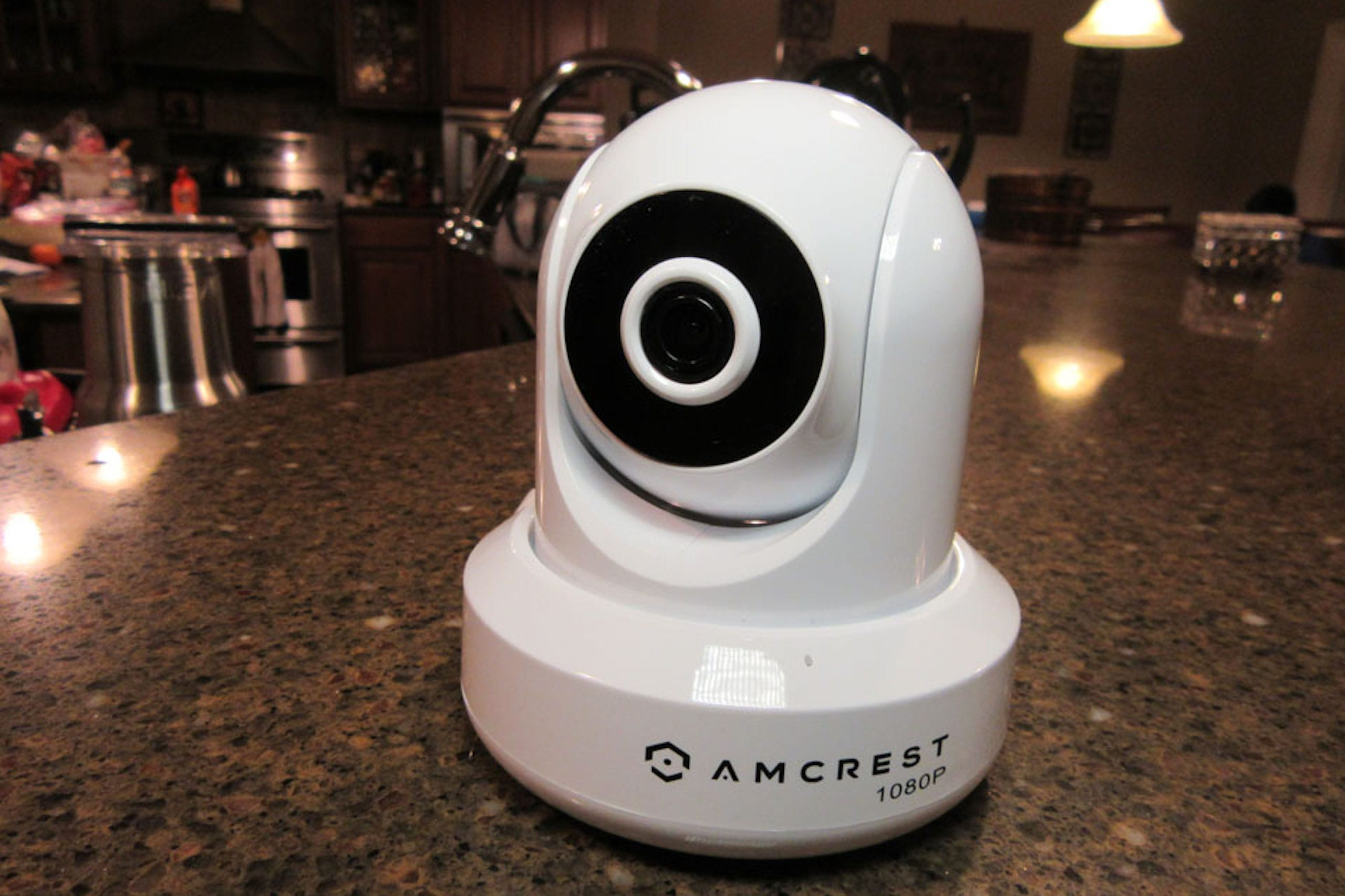 Amcrest indoor smart camera with Hubsai's SmartHome Plan